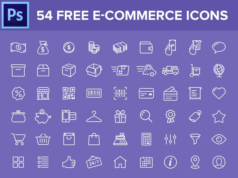 54 Free E Commerce Icons Free Icons Web Development Design Free Ecommerce