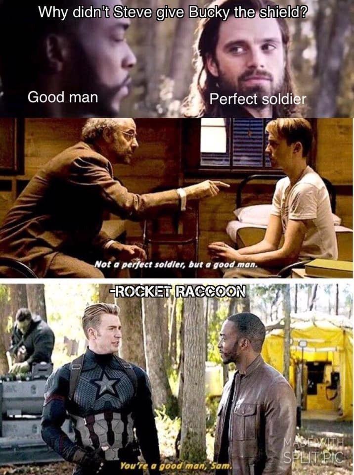 C'est tellement triste parce que Bucky est aussi un homme bon, mais Hydra l'a fait p ...