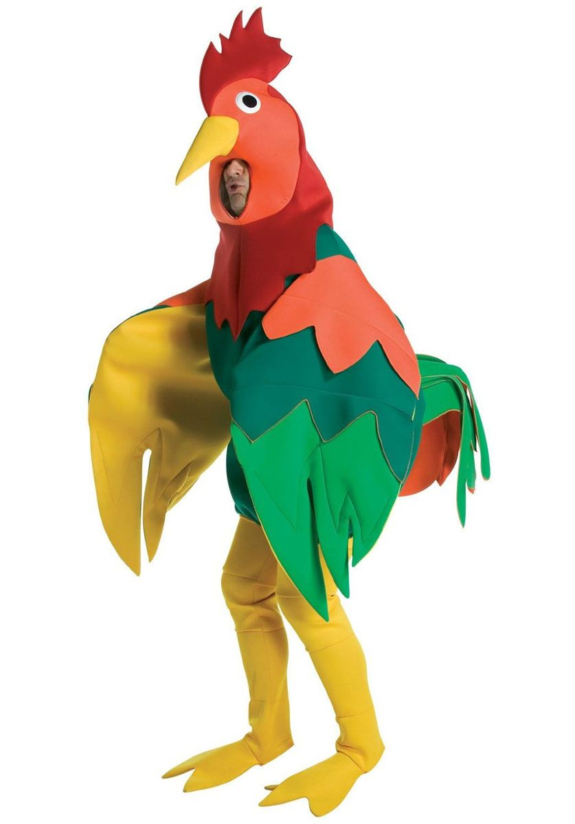 Chicken Suit Adult Costume Fancy Dress