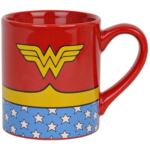Wonder Woman Logo Mug $6 99 ❤ liked on Polyvore featuring home
