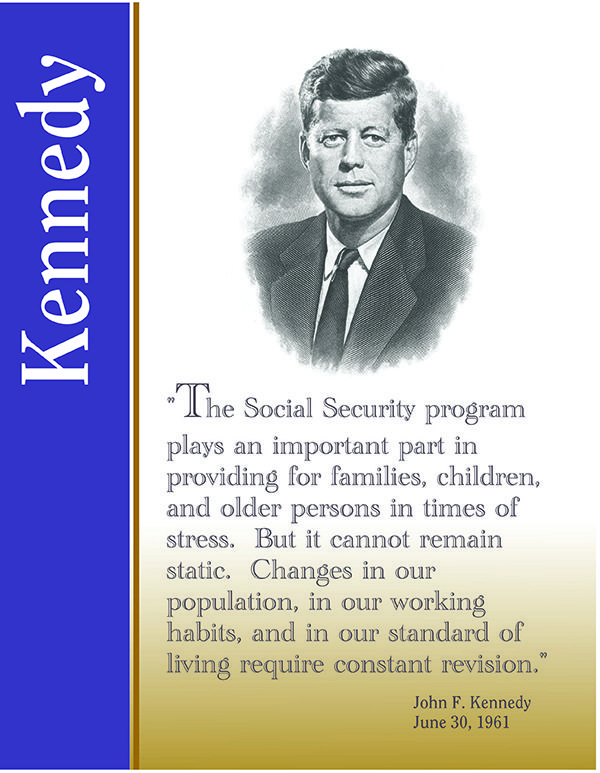 Quote from President Kennedy on Social Security – 1961