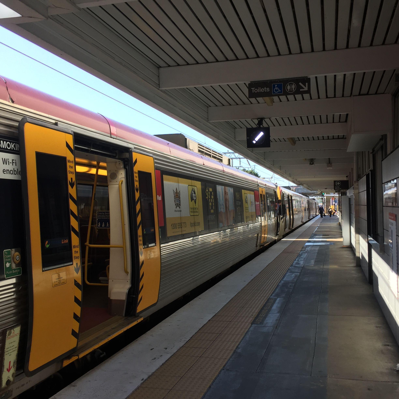 Bowen Hills suburban railway station, Brisbane. QLD ...