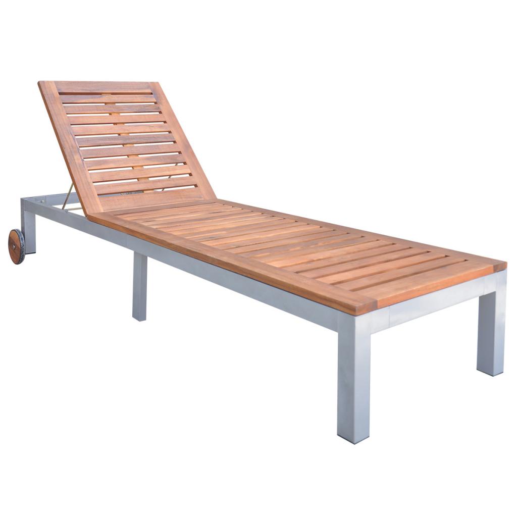 vidaxl solsa¤ng 207x70x31 88 cm akaciatra¤ balcony pinterest