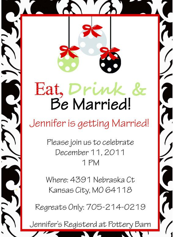 Christmas Damask Bridal Shower Invitation You by designgirl16