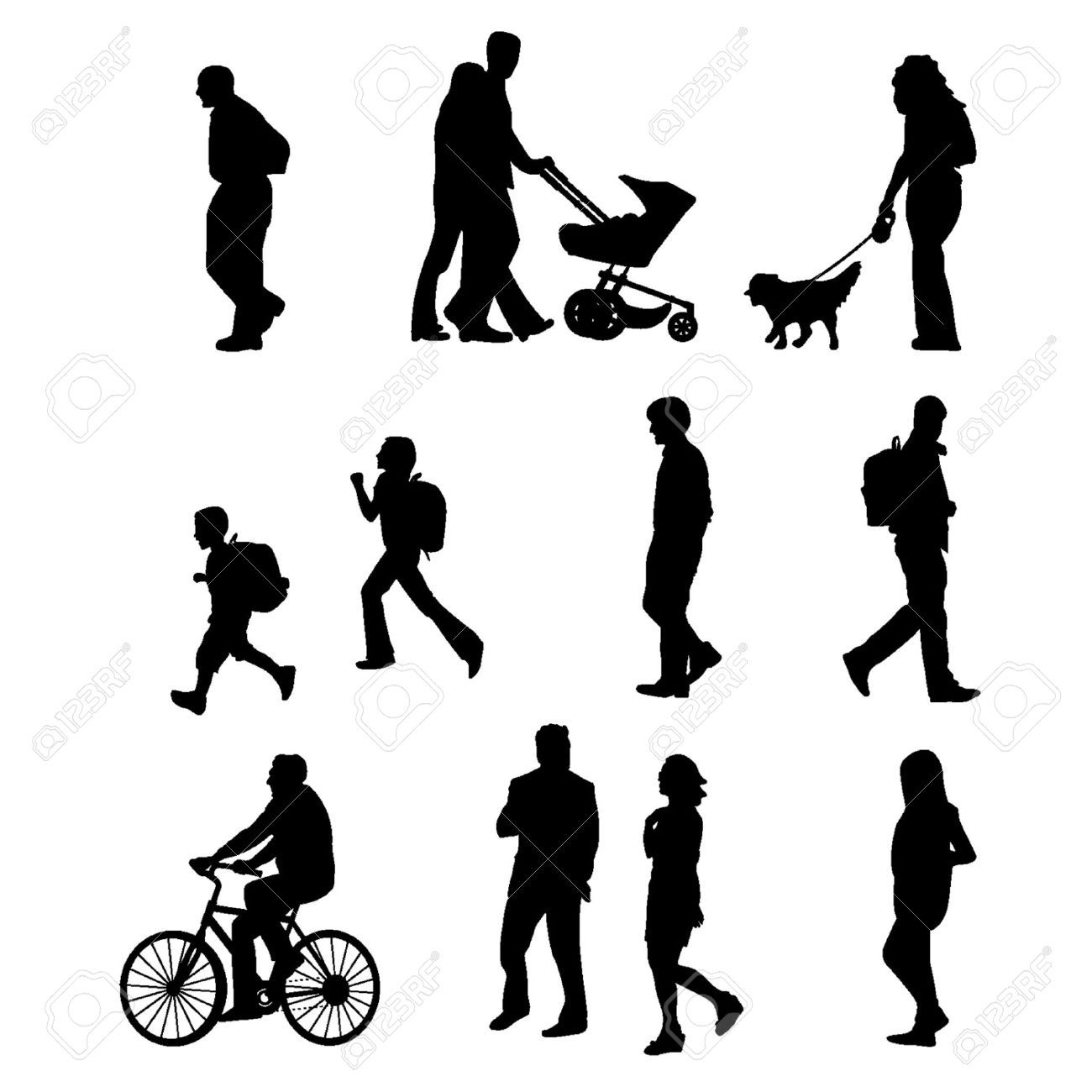 Image result for people walking cliparts cities project