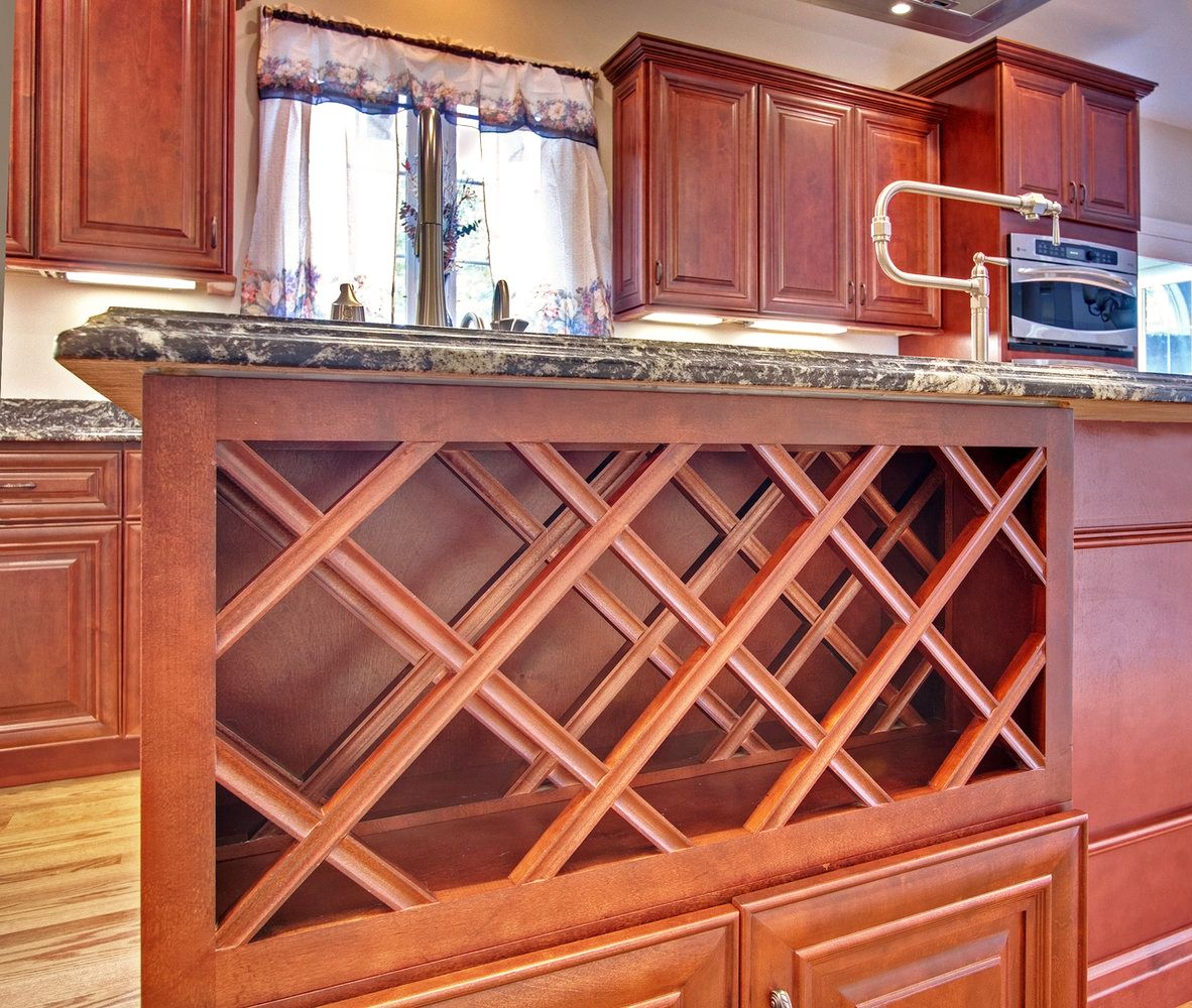 Home Cabinet Westbury Kitchen Add On Built In Wine Rack Built In Wine Rack Red Cabinets Glazed Kitchen Cabinets