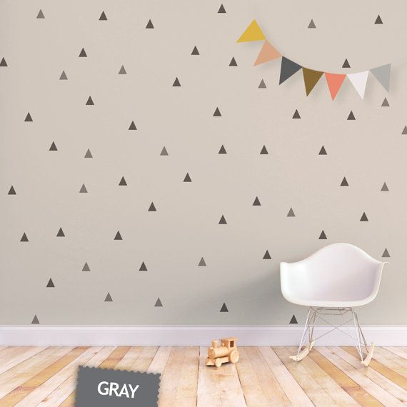 Triangle Wall Decal Baby Wall Decal Removable door trendypeasdecals