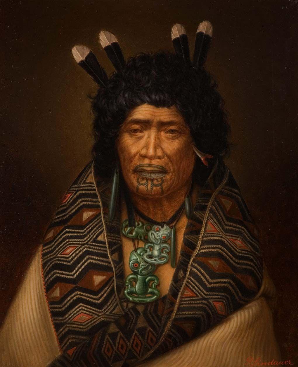 Female Maori Mouth Tattoos: Rangi Topeora - Lindauer Online