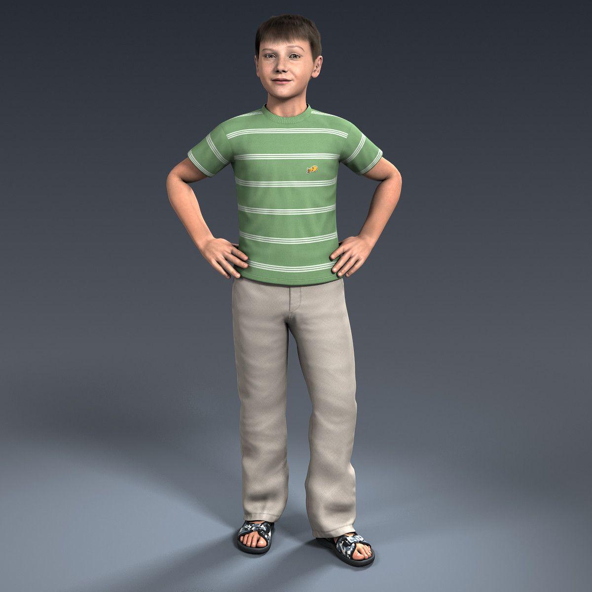 3d model ben 9 13 year boy 3D Assets