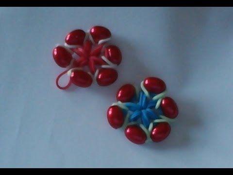 Cómo hacer flor de gomitas y cuentas - YouTube
