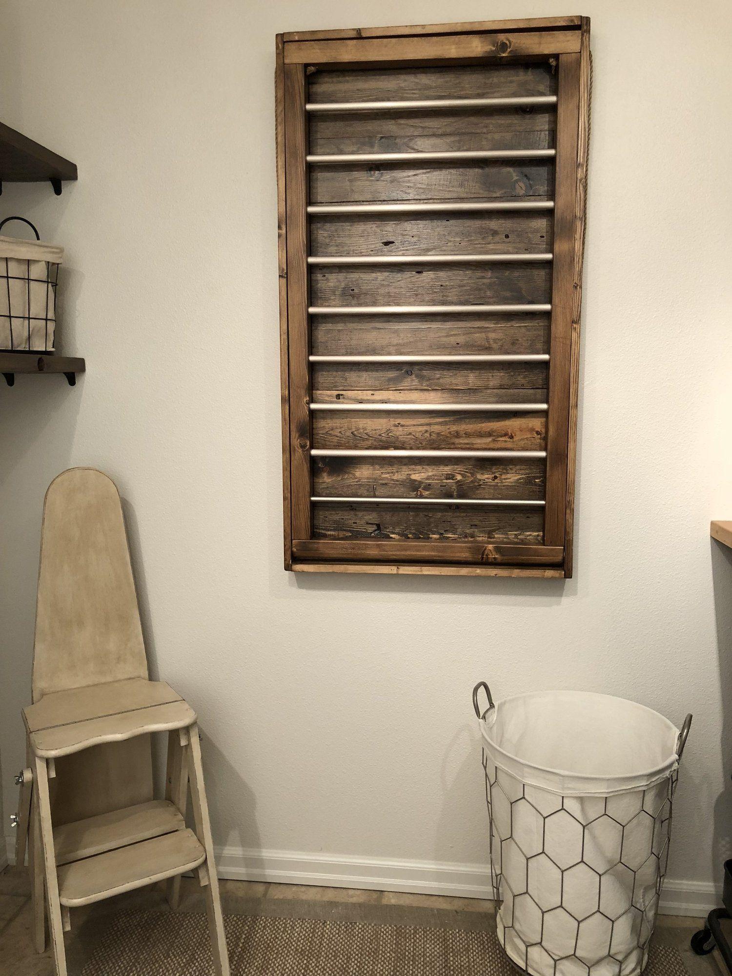 Custom wood ladder laundry drying rack in 2020 drying
