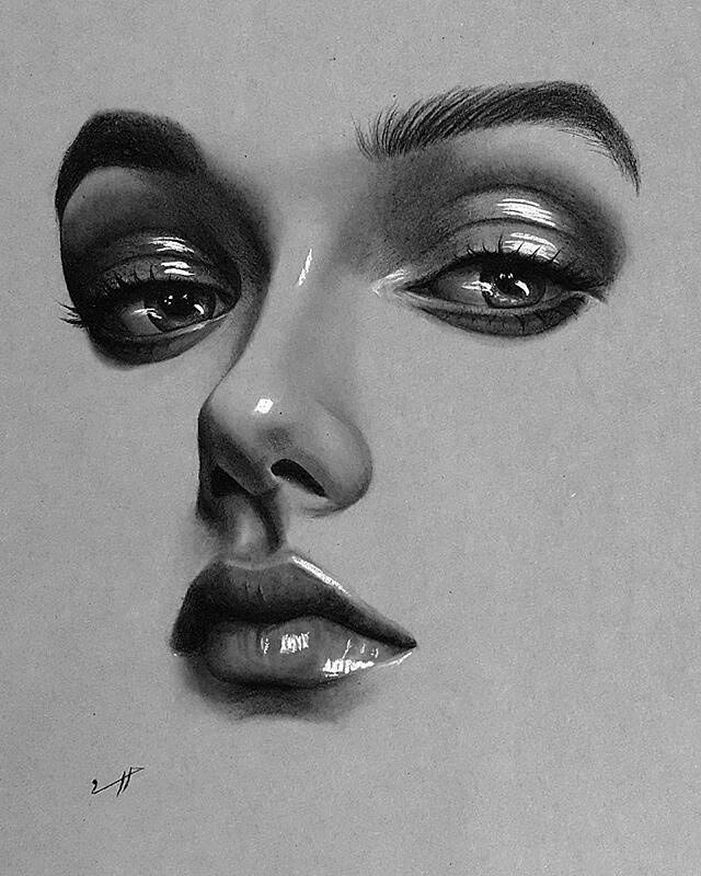 Drawing Faces with Graphite Pencils #pencildrawingtutorials