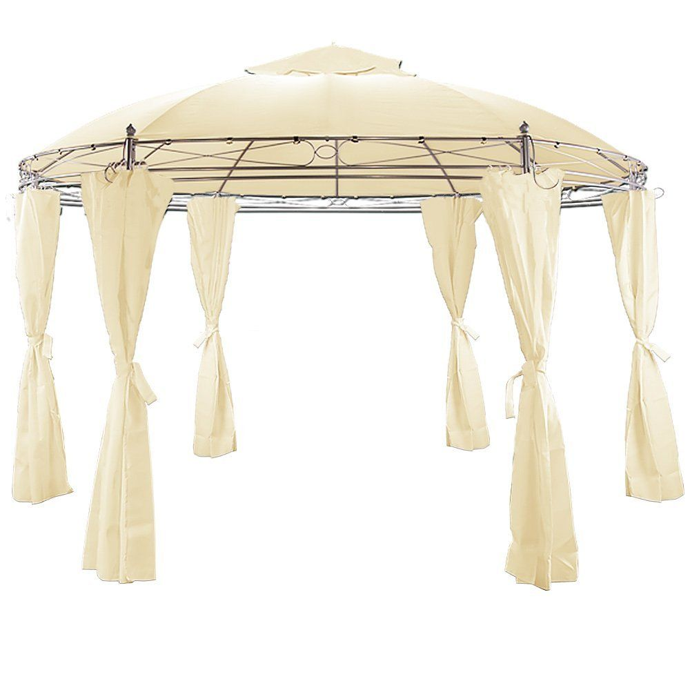 Metal Gazebo with Side Panels and Air Vent Garden Outdoor Awning Canopy Marquee Sides Beige  sc 1 st  Pinterest & Metal Gazebo with Side Panels and Air Vent Garden Outdoor Awning ...