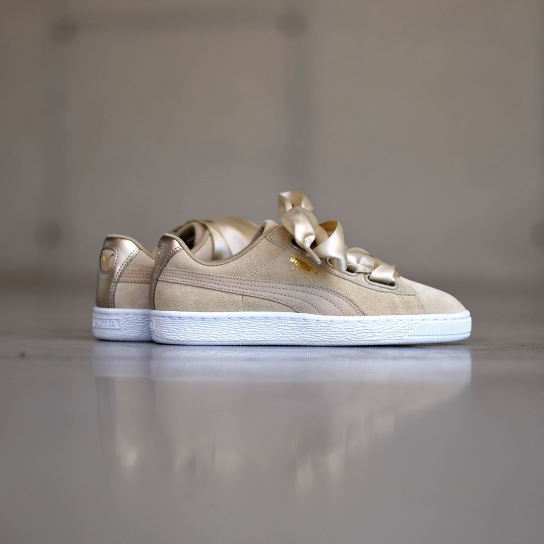 puma suede heart metallic