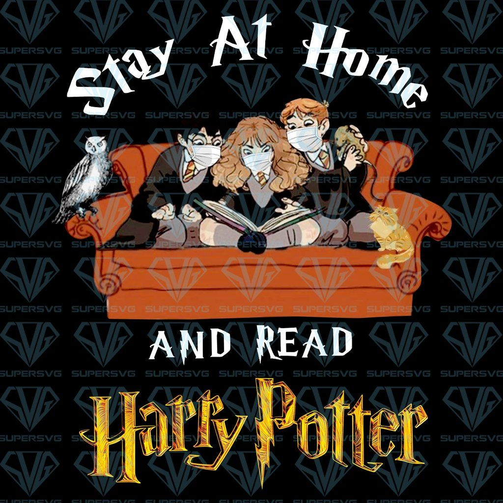 Stay At Home And Read Harry Potter Png Instant Download In 2020 Harry Potter Harry Potter Funny Harry