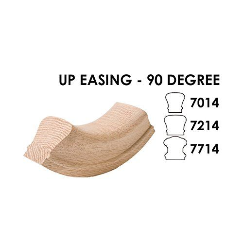 Best Red Oak Up Easing 90 Degree 6210 Wood Staircase Handrail 640 x 480