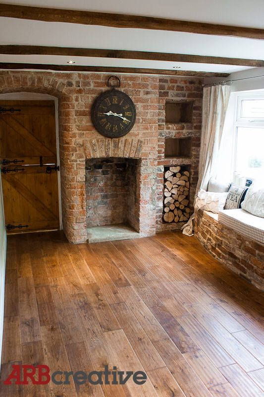 Image Result For Brick Fireplace With Log Storage Under