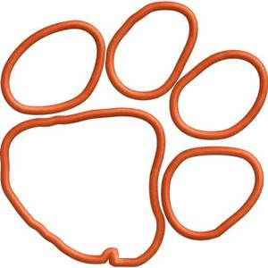 Clemson University Coloring Pages Bing Images Tiger Paw Paw