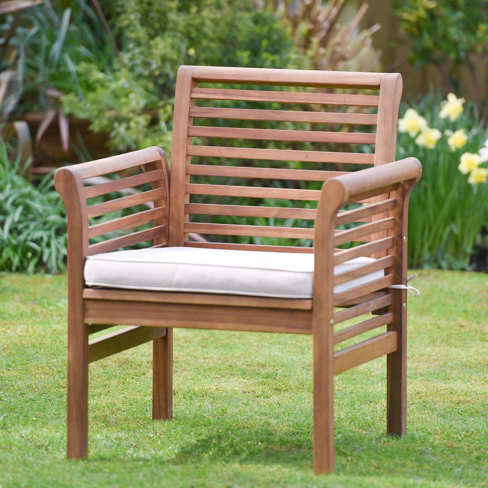 Chaise de jardin Plant Theatre avec coussin inclus - Qualité ...