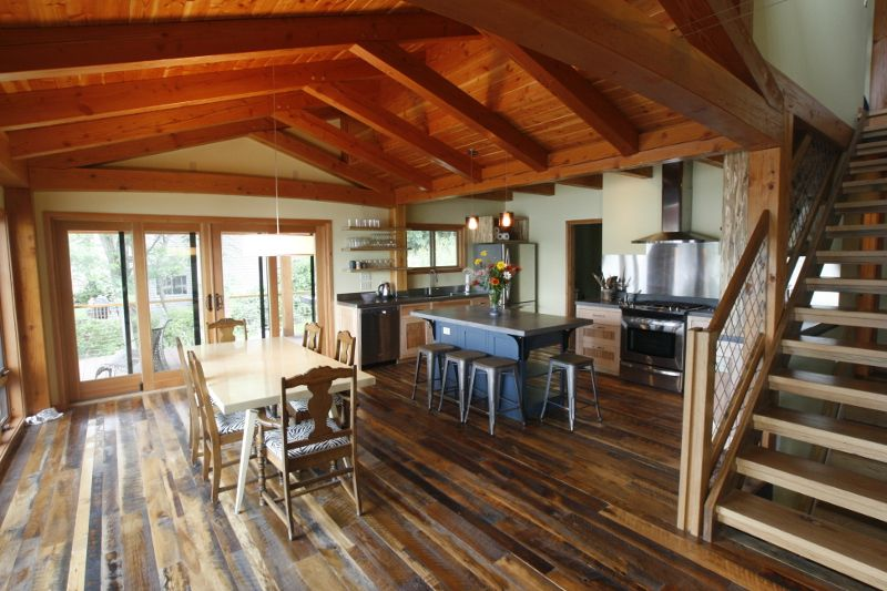 Timber Frame Home Interiors By New Energy Works. I Like The Wall Height And  The