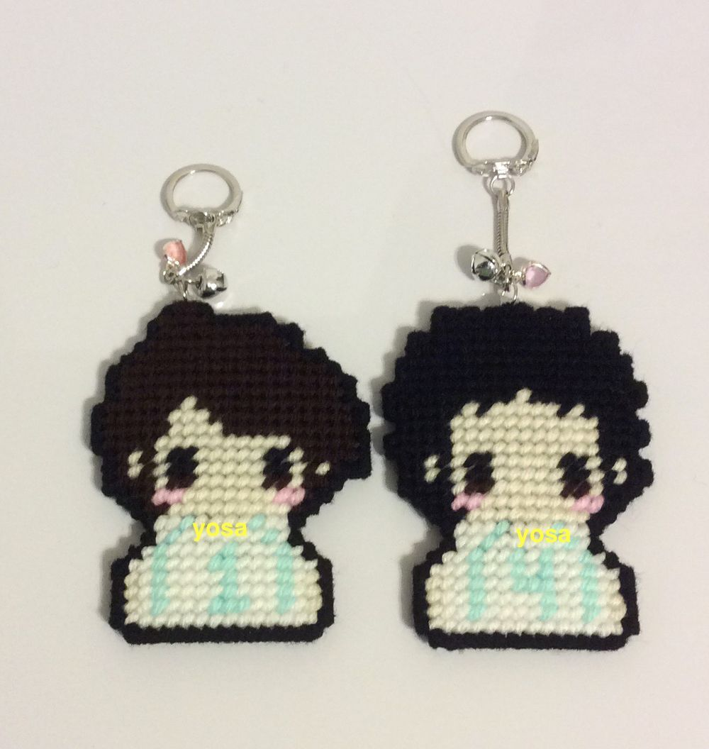 Haikyuu Aoba Jousai Volleyball Team Chibi Cross Stitch Single Character Purse Dangle Or Keychain Charm Via Yosa Chan Click On The Image To See More