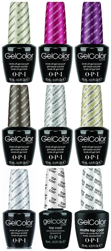 Winter\'s OPI GelColors, taken from the Mariah Carey collection ...