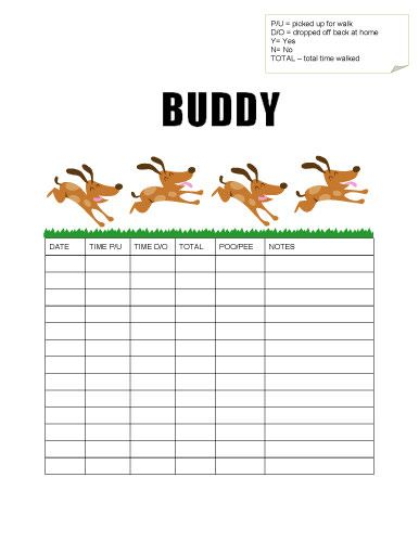 I LOVE THIS!!!! I would totally use this for a dog walking service - sample time log template