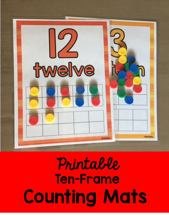 Ten Frame Counting Mats 11 20 Ten Frame Numbers Preschool Math Activities