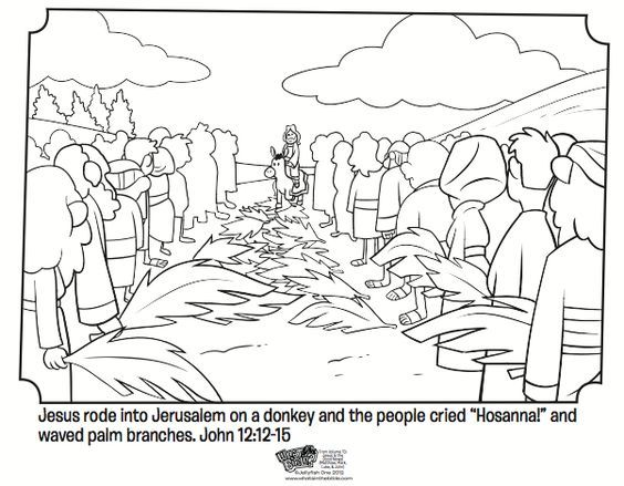 Palm Sunday Bible Coloring Pages Bible Coloring Pages Palm