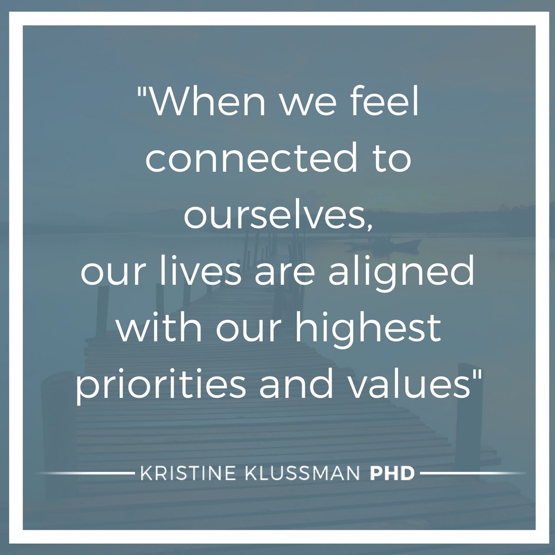 Quote KristineKlussman priorities values connection