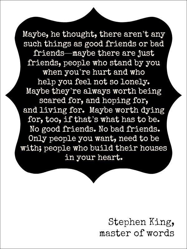 Stephen King quote friends
