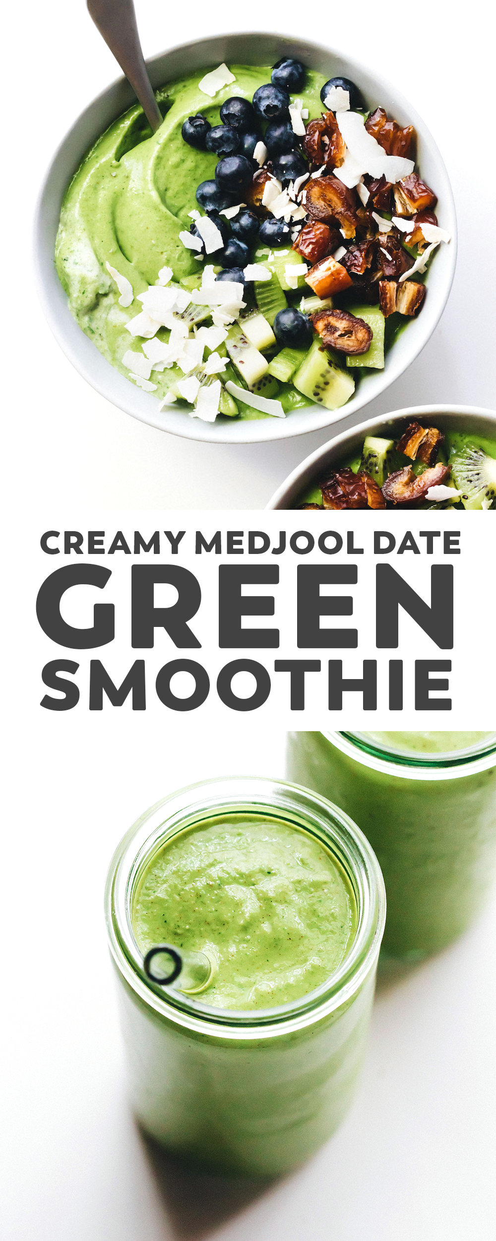 Creamy Medjool Date Green Smoothie images