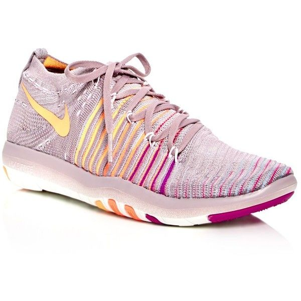 f6169d407cb53 Nike Women s Free Transform Flyknit Lace Up Sneakers ( 150) ❤ liked on Polyvore  featuring shoes