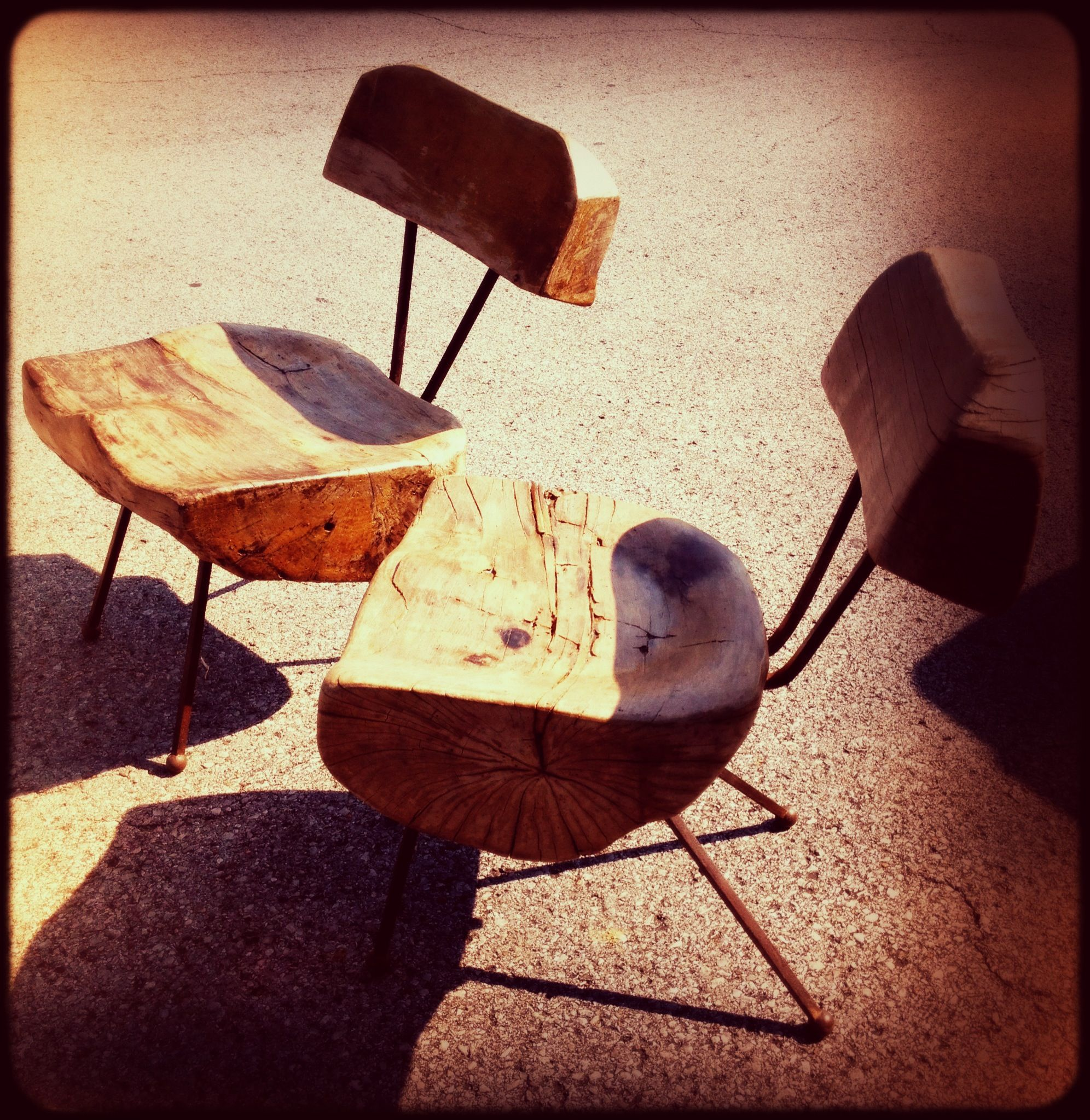"Mid Century ""Log"" chairs"