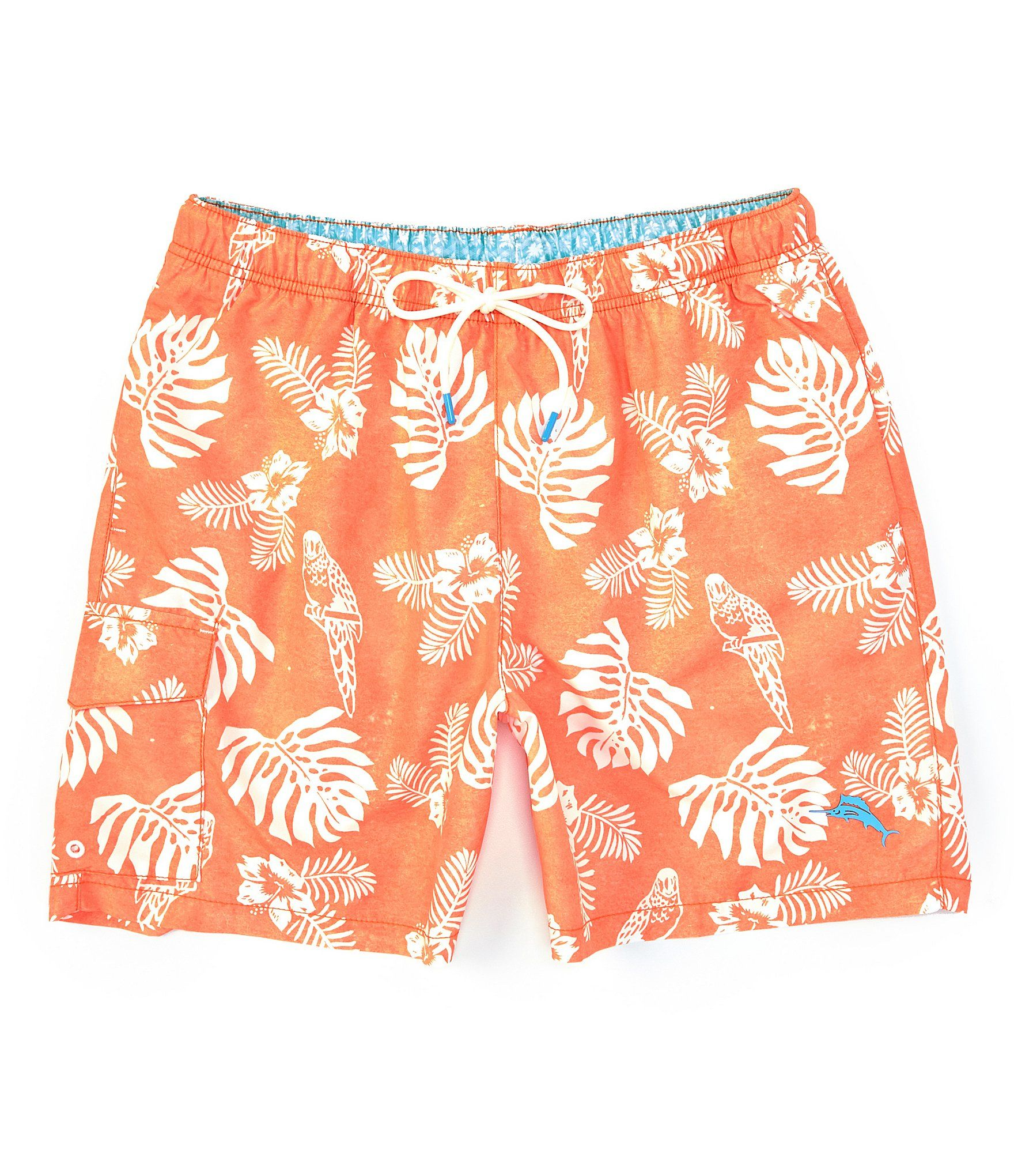 Tommy Bahama Naples Parrot 6 Inseam Swim Trunks Curuba S