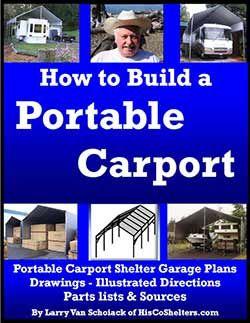 How To Build A Portable Carport Portable Carport Carport Portable Garage