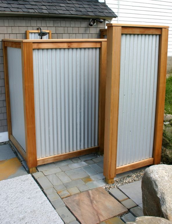 Outdoor Shower New England Tradition Outdoor Shower Enclosure Outdoor Bathroom Design Outside Showers