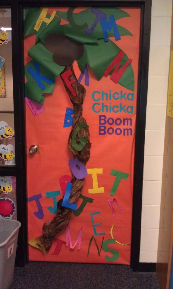 Door Decor, Younger grades. Chicka Chicka Boom Boom | School ...