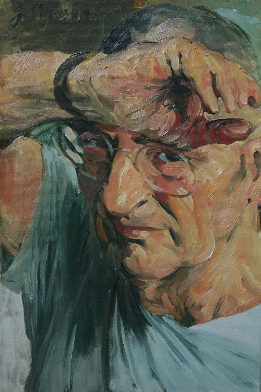 Johannes Grützke: *Selbst 28.10.2012*, Öl/Leinwand, 60 x 40 cm
