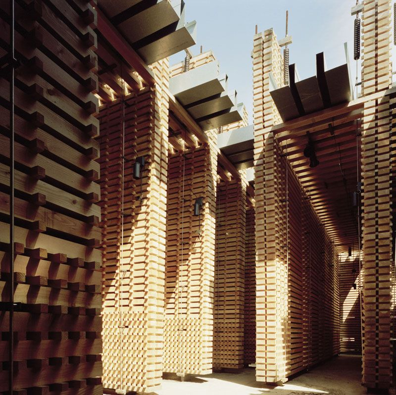 Peter Zumthor Swiss sound box, a pavilion for the 2000