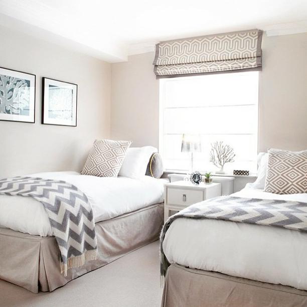 Two Twin Bed Guest Room Slaapkamer Interieuren Kleine