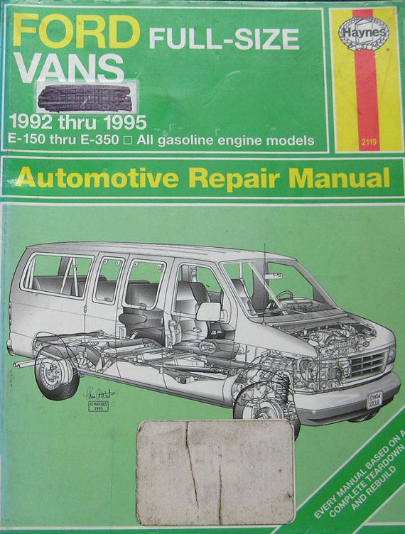 haynes ford full size van service repair manual by thehowlinghag rh pinterest com Haynes Auto Repair Manuals Library Auto Repair Manuals
