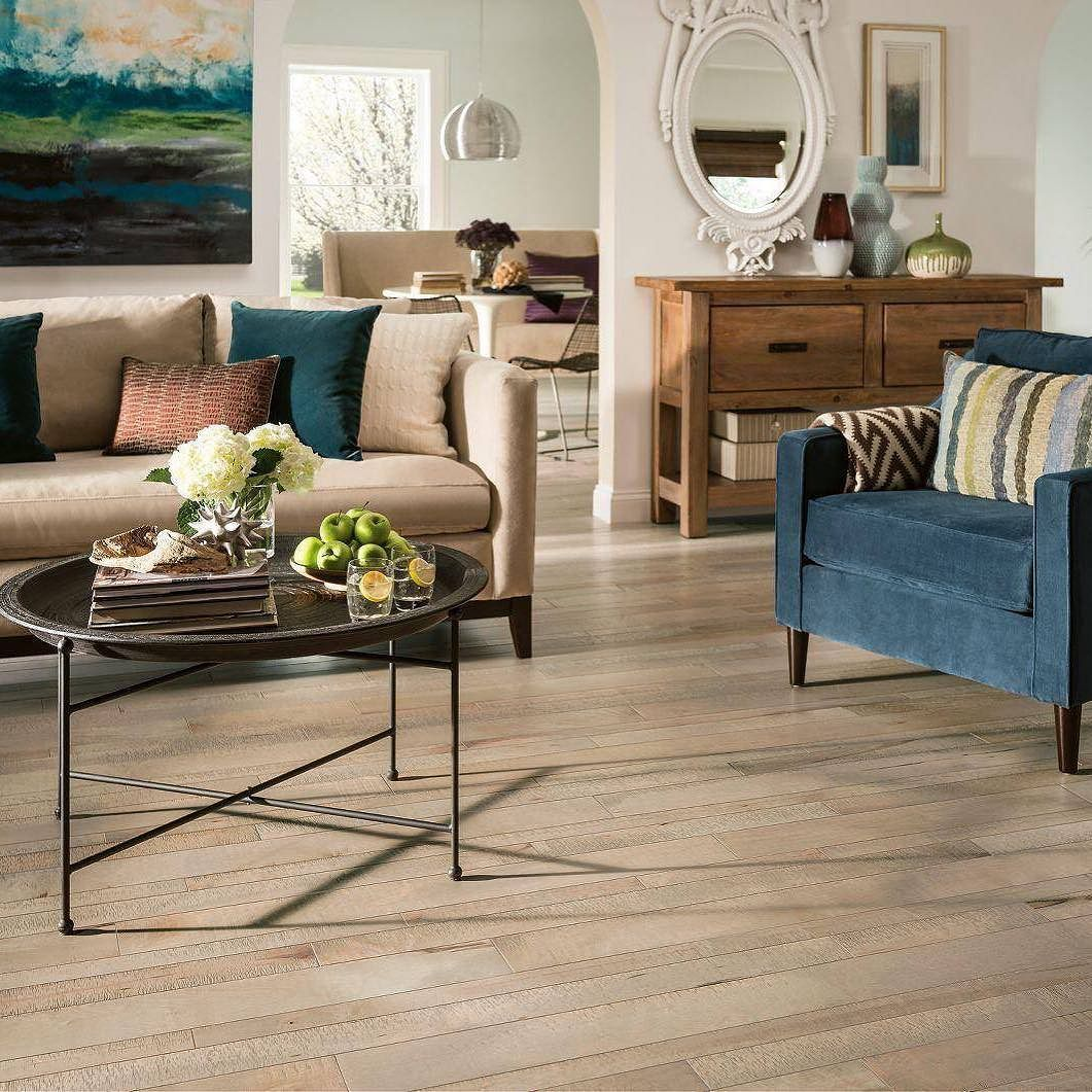 For those of us enduring the gloomy rainy weather: This amazing #hardwood flooring from the TimberCuts collection from Armstrong in Maple - Harbor Fog is anything but gloomy! Brighten any space with these gorgeous random-width planks. #homeremodel #tiledesign #renovation #remodeling #kitchendesign #kitchenremodel #interiordesigner #interiordesign #bathroomremodel #tile #Fishers #newfloor #newhome #renovate by efmarburgerflooring