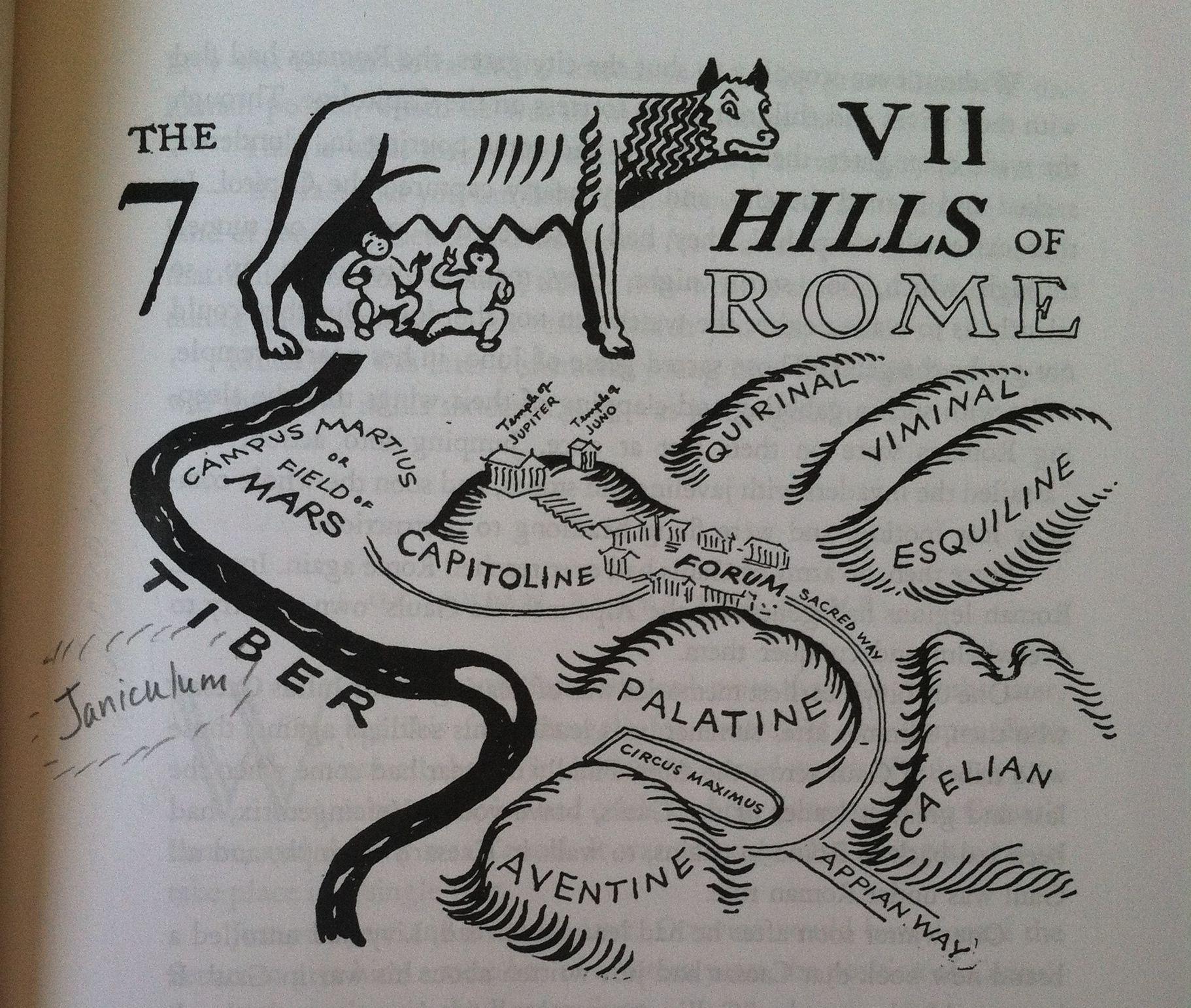 Age 12 Roman History Seven Hills Of Rome Map