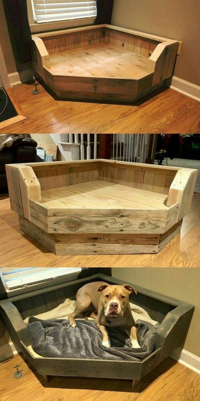 Pet bed for unused corner