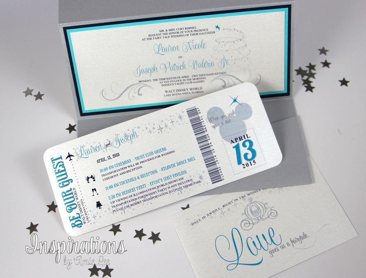 Disney Wedding Invitations From Inspirations By Amie Lee Http Www