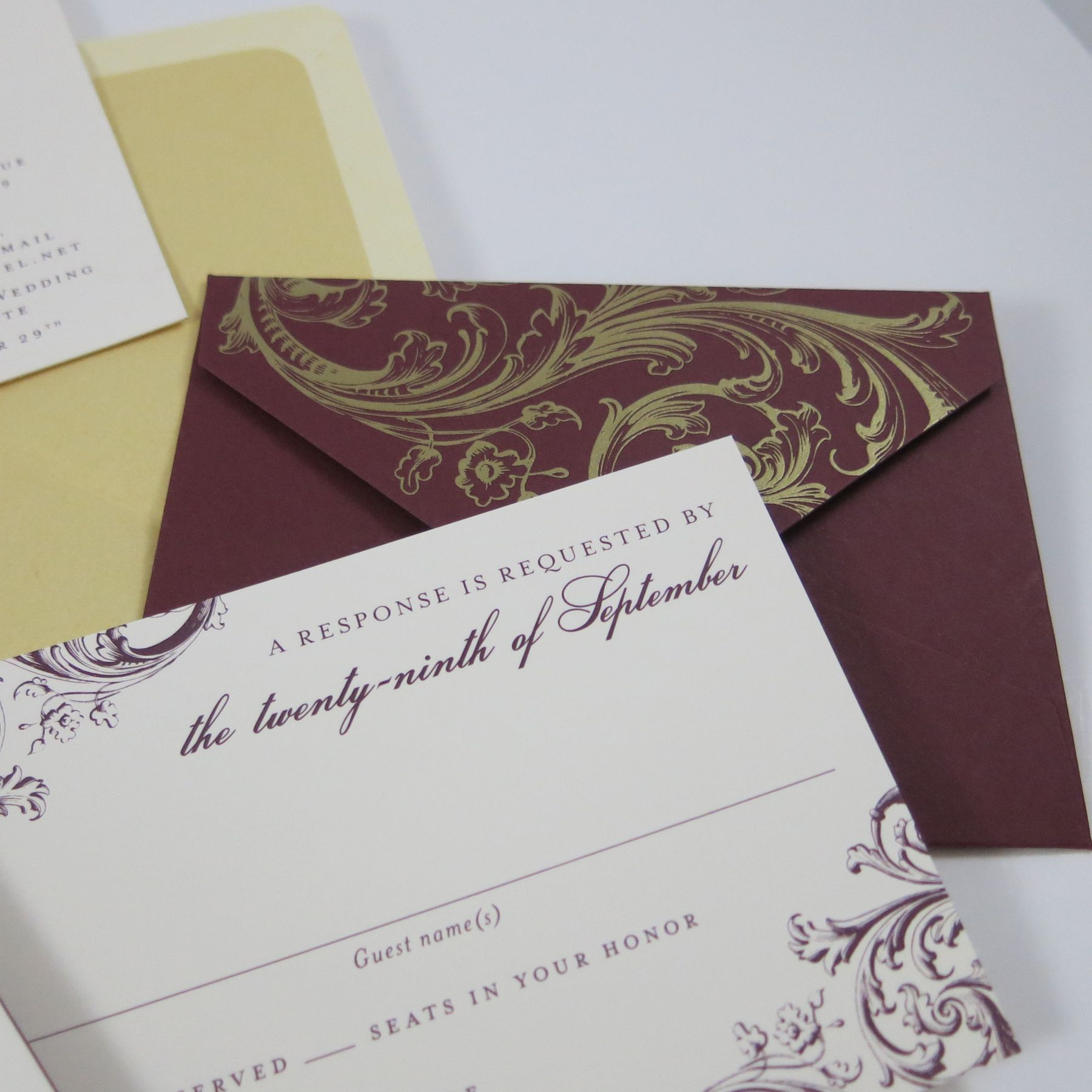 We Designed This Bilingual Wedding Invitation Using Both English And