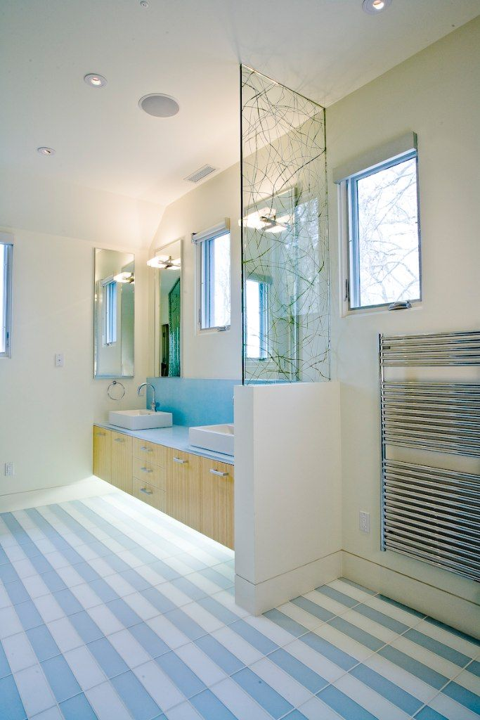 Bathroom Flooring With A Striped Tile Floor Http Www
