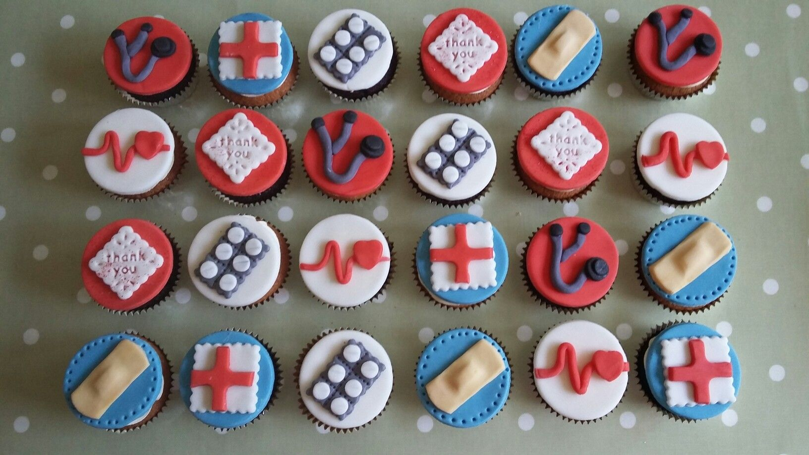 Medical theme cupcakes