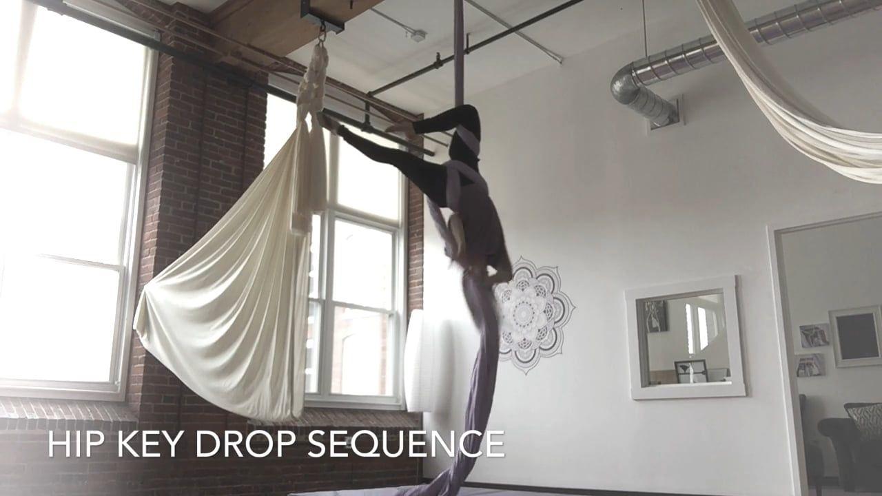 Hip Key Drop Sequence - Aerial Yoga Girl | Aerial yoga ...